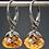 Thumbnail: Citrine Oxidized Silver Drop Earrings