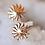 Thumbnail: 14kt Gold Sunburst Stud Earrings
