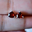 Thumbnail: Heart Garnet Stud Earrings