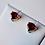 Thumbnail: Heart Garnet Stud Earrings