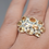 Thumbnail: Sterling Silver Citrine Ring Size 6