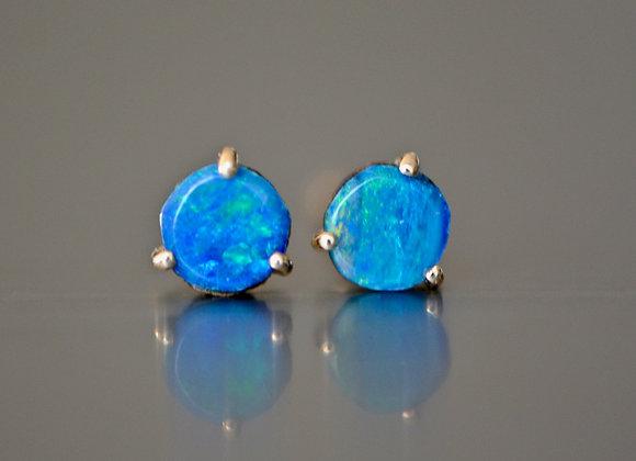 Opal Stud Earrings 14k Gold