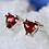 Thumbnail: Triangle Garnet Stud Earrings
