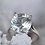 Thumbnail: Sterling Silver Crystal Solitaire Ring
