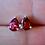 Thumbnail: Teardrop Garnet Stud Earrings