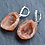 Thumbnail: Natural Orange Sterling Silver Geode Earrings