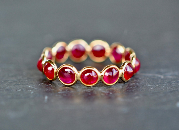 Garnet 18kt Gold  Eternity Ring
