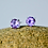 Thumbnail: Small Round Amethyst Stud Earrings