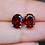 Thumbnail: Large Oval Garnet Stud Earrings