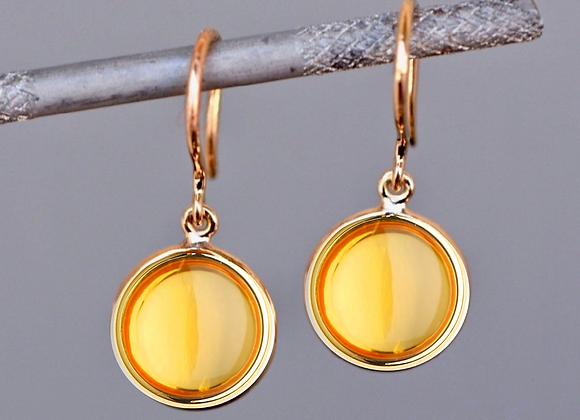 18kt Gold Citrine Earrings