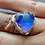 Thumbnail: Blue Quartz Wide Band Sterling Silver Ring