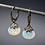 Thumbnail: Opal Oxidized Silver Drop Earrings
