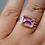 Thumbnail: Amethyst Silver Gold Ring