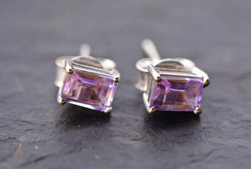 product silver purple pendant sterling earrings set necklace stud amethyst and