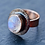 Thumbnail: Rose Gold Moonstone Ring