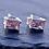 Thumbnail: Rectangle Amethyst Stud Earrings
