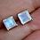 Thumbnail: Square Moonstone Stud Earrings