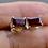 Thumbnail: Rectangle Garnet Stud Earrings