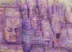 Angkor Wat 105x75 aquarell
