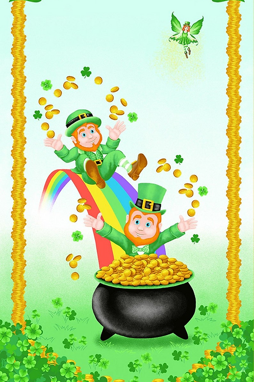 Pot of Gold Panel  by Henry Glass Fabrics