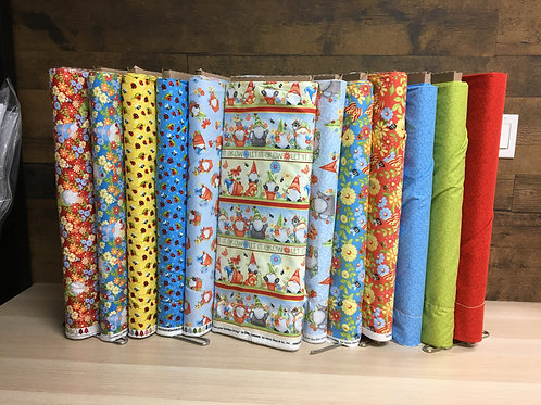 Gnome is Where Your Garden Grows by Henry Glass Fabrics