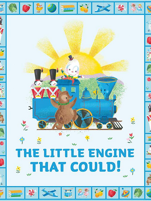 Little Engine That Could Panel  by Riley Blake