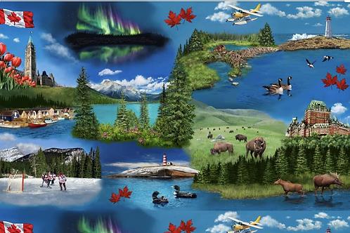Discover Canada Coast to Coast from Robert Kaufman Fabrics