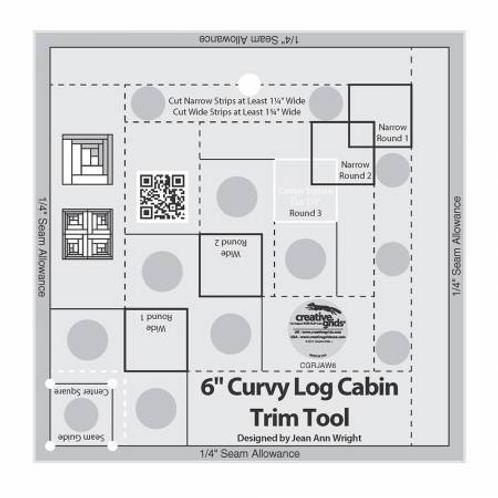 "6"" Curvy Log Cabin Trim Tool by Creative Grids"
