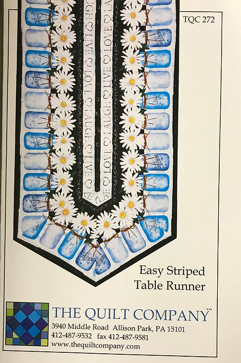 Easy Striped Table Runner by The Quilt Company