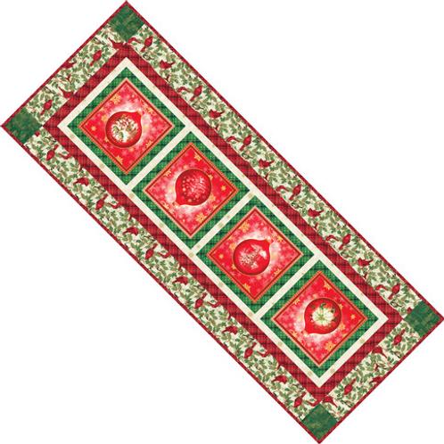 Winters Grandeur Festive Tablerunner--by Robert Kaufman Fabrics