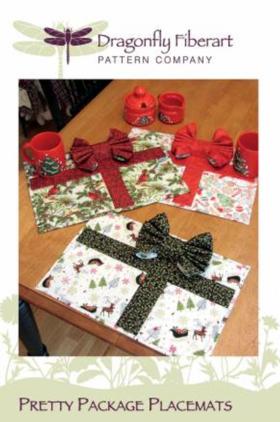 Pretty Package Placemats  Dragonfly Fiberart