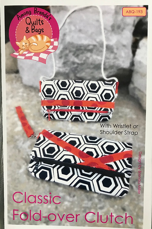 Classic Fold Over Clutch by Among Brenda Quilts
