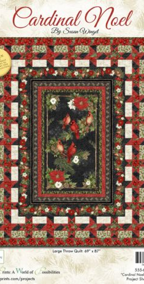 Cardinal Noel by Susan Winget for Wilmington Prints Large Throw Quilt