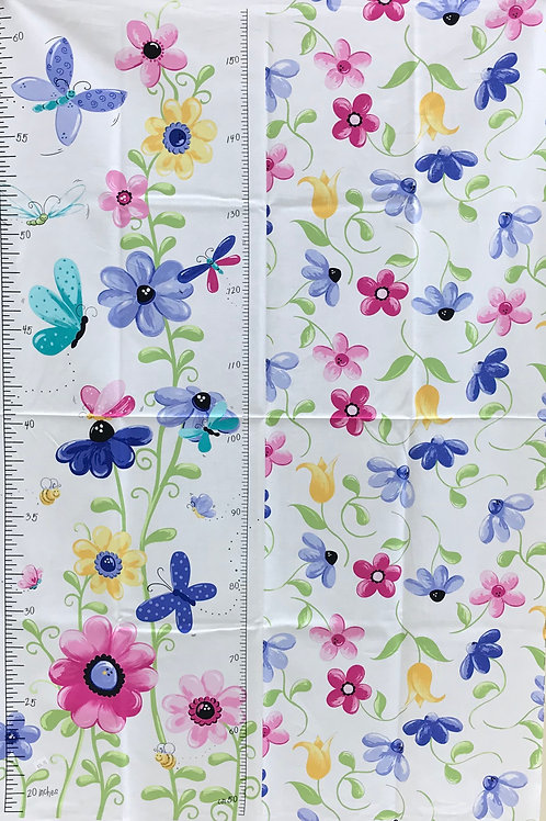 Flutter, The Butterfly by Susybee Fabrics Growth Chart Panel