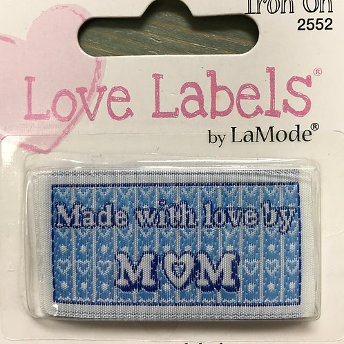 Love Labels- Made with love by Mom