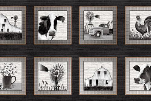 Buttermilk Farmstead Farm Blocks  by Studioe Fabrics