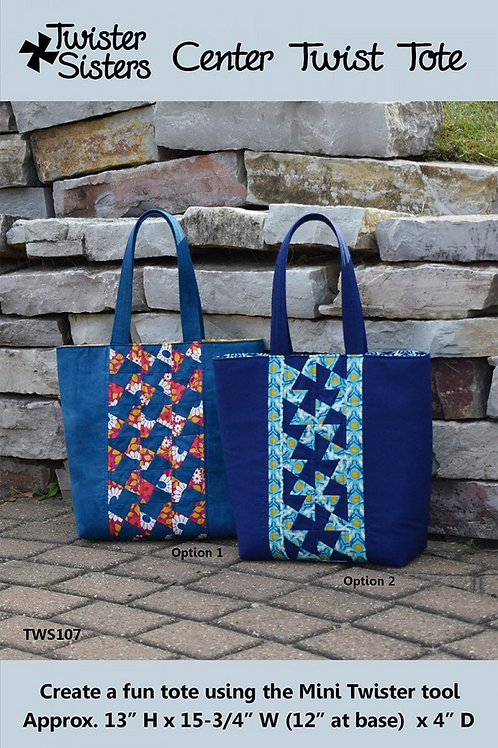 Center Twist Tote Pattern by Twister Sisters