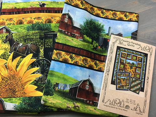 Country Paradise featuring Northcott fabrics - Lap Quilt