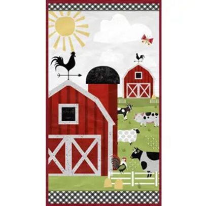 Country Life Panel --by Wilmington Prints