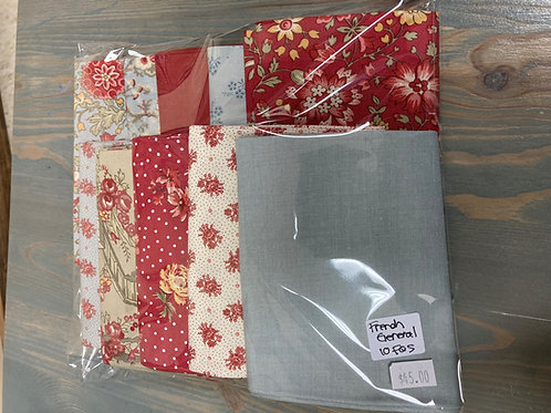 Assorted 10 piece Fat Quarter Bundle from French General for Moda