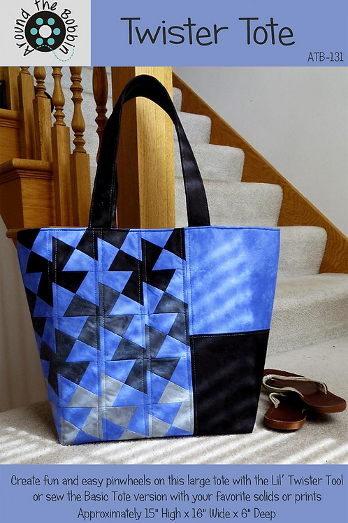 Twister Tote Pattern by Around the Bobbin