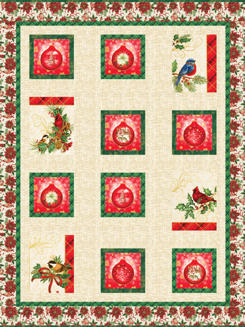 Ornamental Bird Quilt Kit--by Robert Kaufman Fabrics