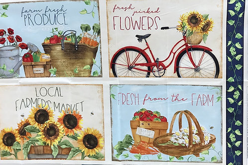 Wilmington Country Road Market Place Mats Multi
