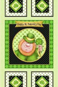 Happy St Patricks Day Panel by Henry Glass