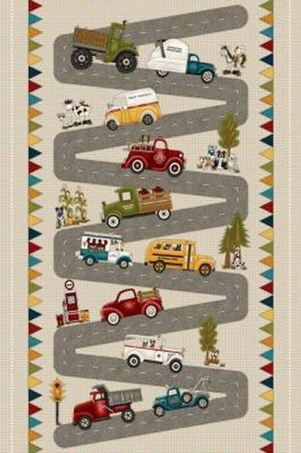 Papa's Old Truck Panel by Henry Glass Fabrics