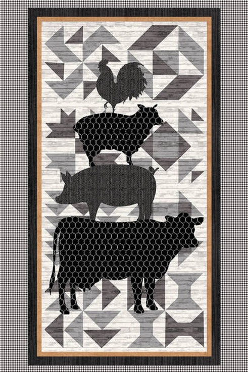Buttermilk Farmstead Panel by Studioe Fabrics