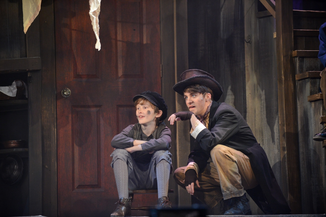 Oliver with the Artful Dodger