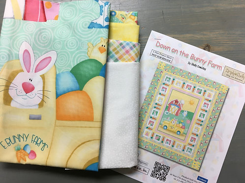 Down on the Bunny Farm by Simply Shelly for Henry Glass Fabrics