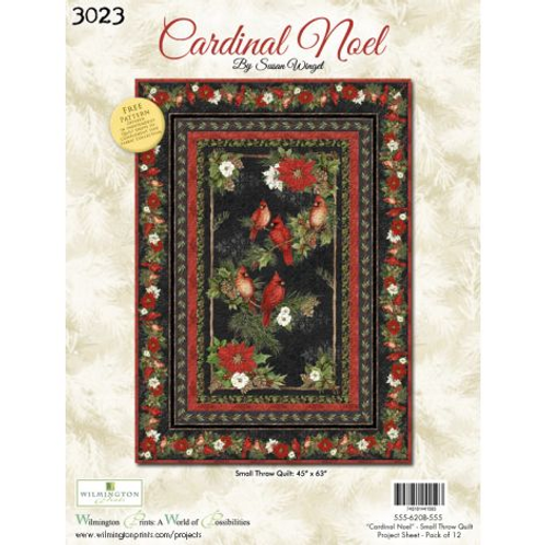 Cardinal Noel by Susan Winget for Wilmington Prints Small Throw Quilt