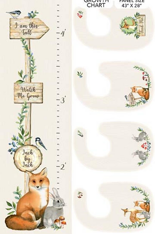 Watch Me Grow Growth Chart Panel by Northcott